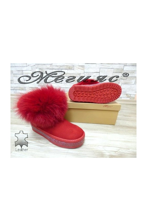 9042-78 Lady boots red suede