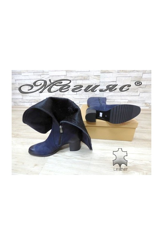 527 Lady boots blue suede