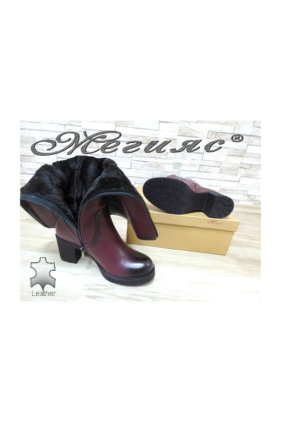 106-11 Lady boots wine leather