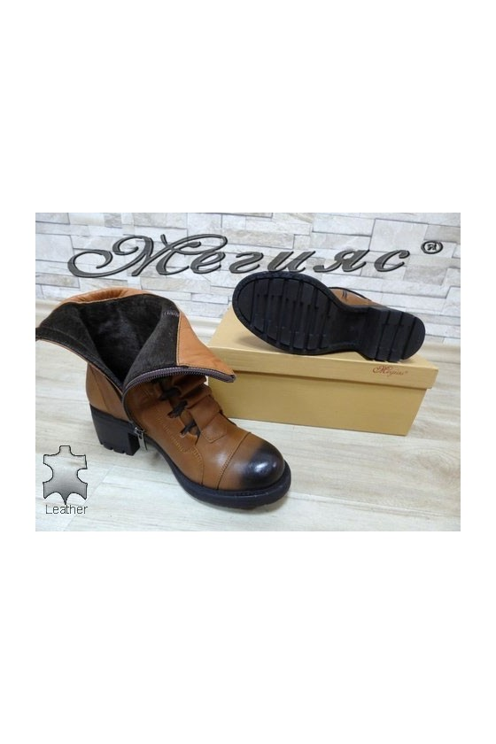 107 Lady boots brown leather