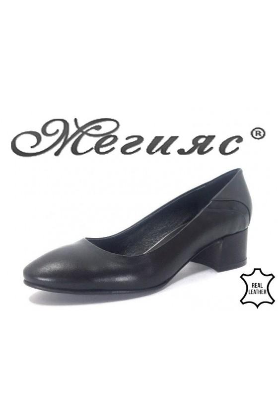 18-15 Дамски обувки черни от естественa koжа