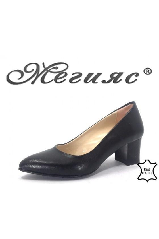73 Дамски обувки черни от еко кожа