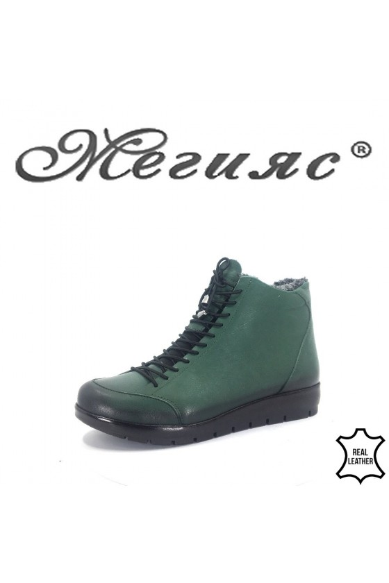 5557 Lady boots green leather