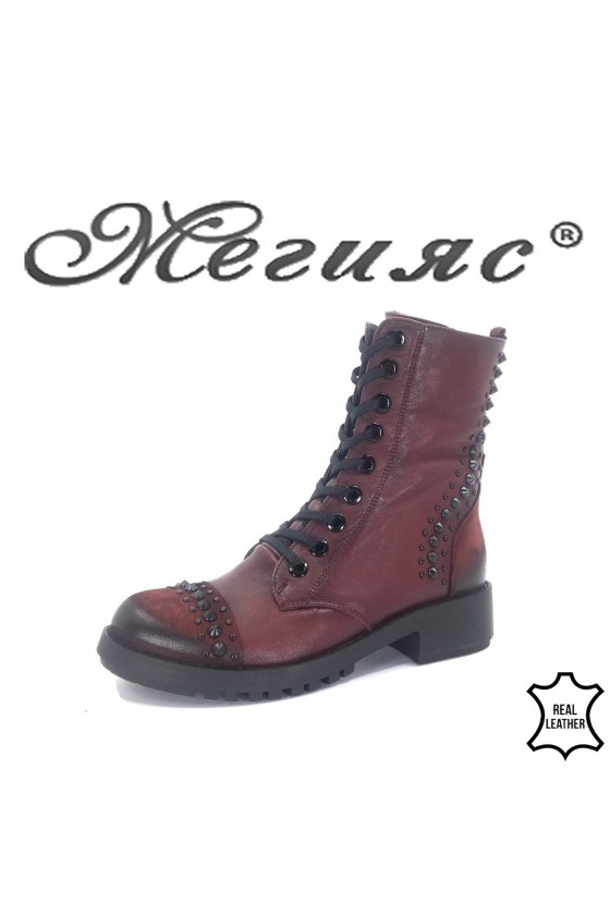 8752 Lady boots wine leather