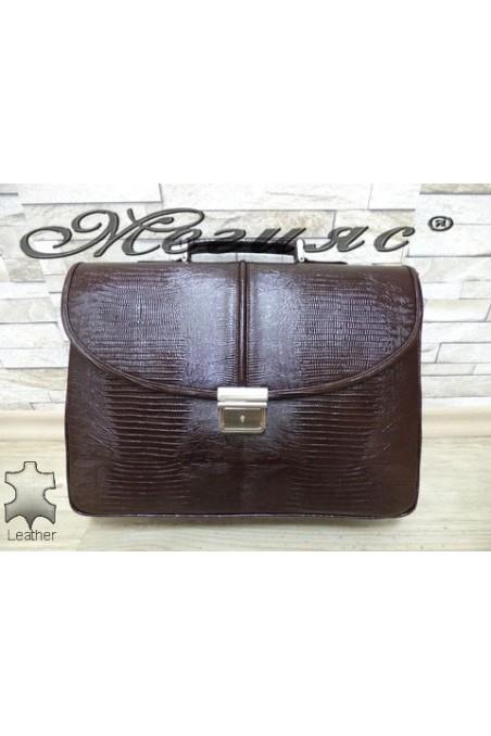 1313-142 Бизнес чанта кафява от естествена кожа