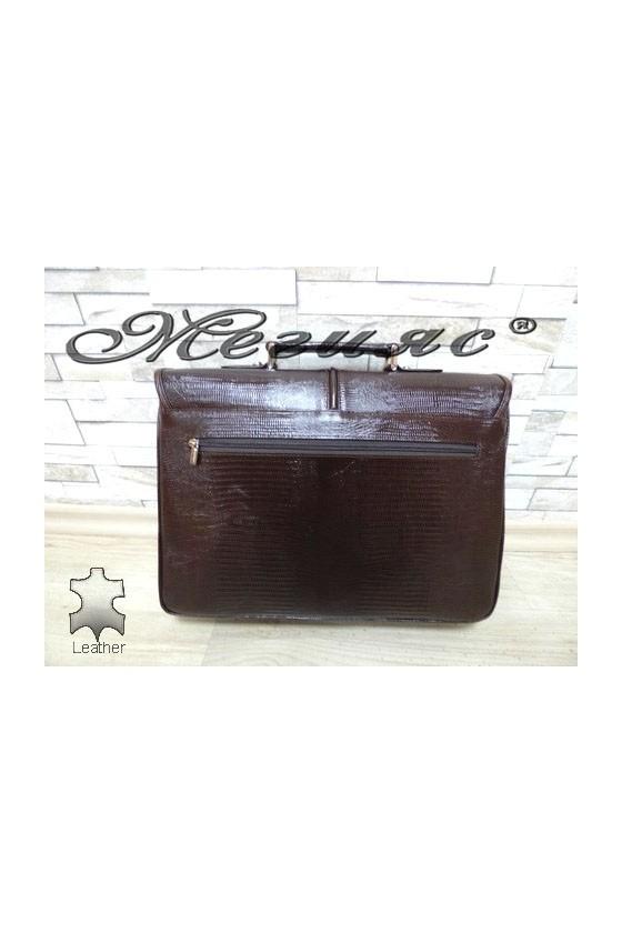 1313-142  Bag brown leather