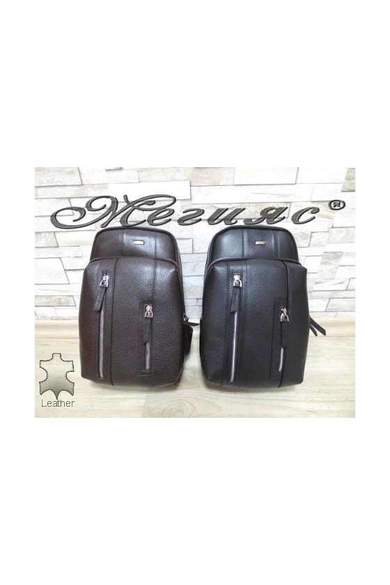 6005 Мъжка чанта тип раница от естествена кожа