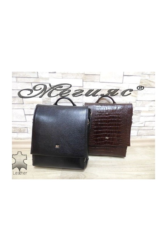 344 Men's bag brown/black leather