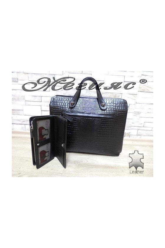 2939 - 321 Lady bag black leather