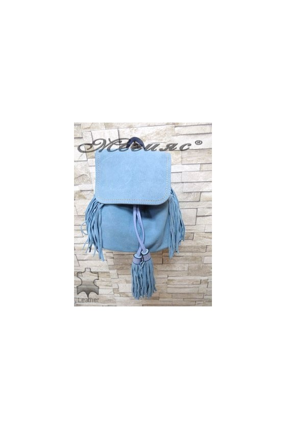 4317 Bag blue suede