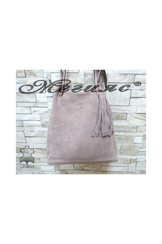 4465 Lady bag Lt.purple suede