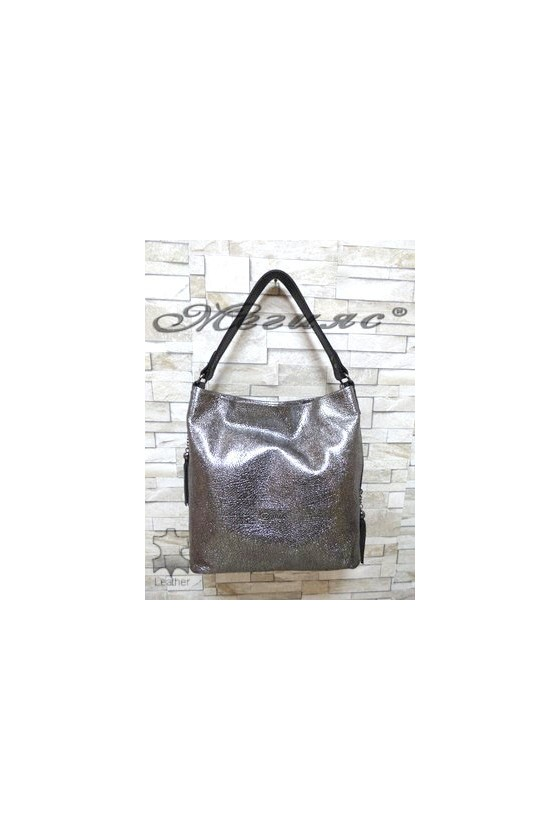 2028 Lady bag dark silver leather
