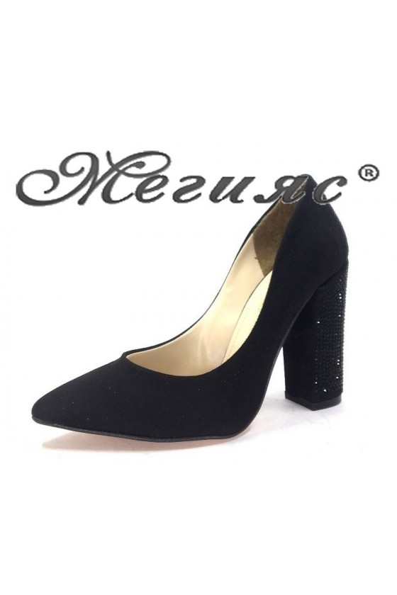 0542 Дамски обувки черни елегантни на висок ток