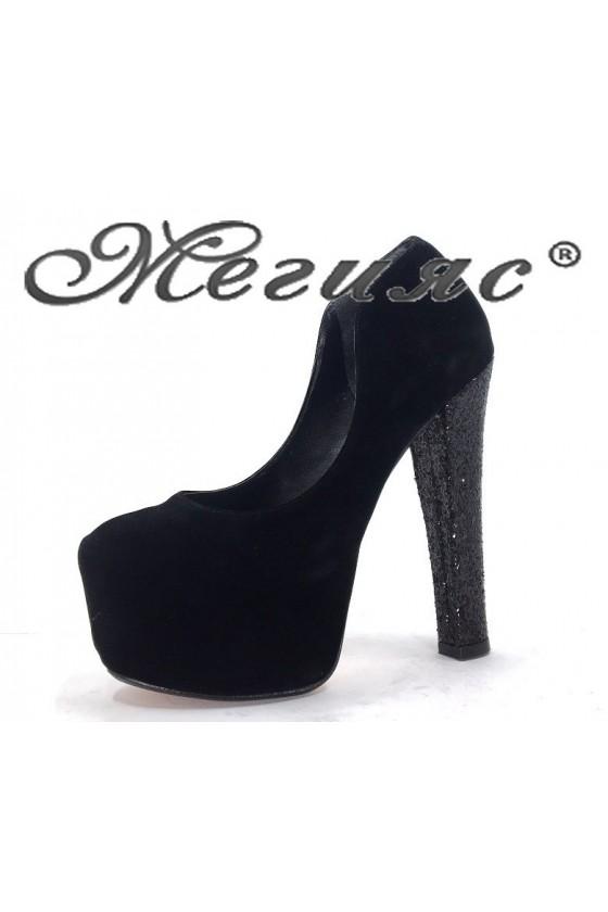 050-1 Дамски обувки черни елегантни на висок ток