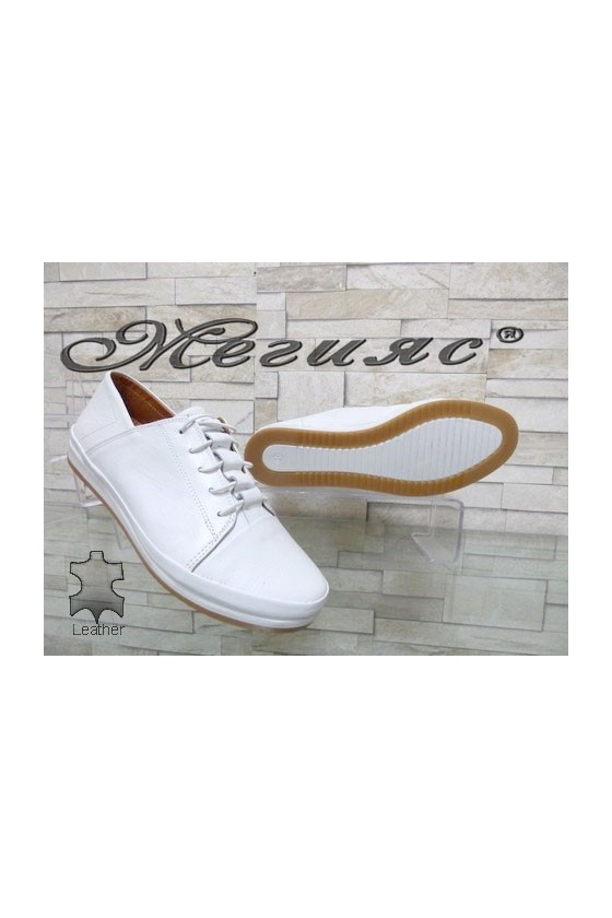 309 Women shoes white leather