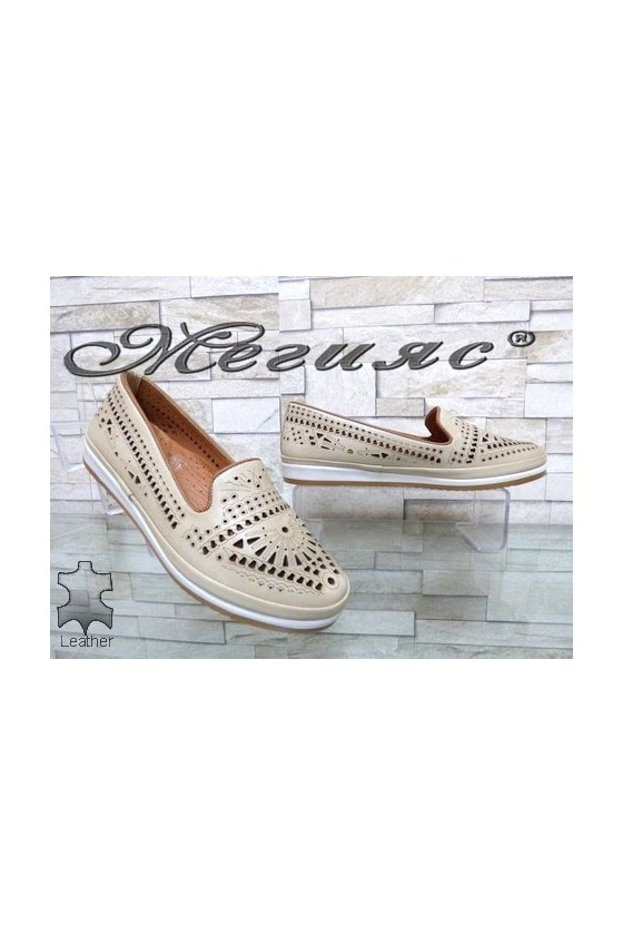 300 Lady shoes beige leather