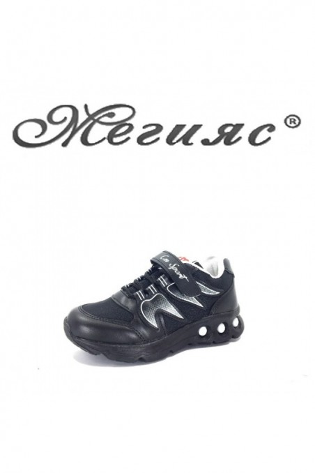 005115 Children's shoes black pu