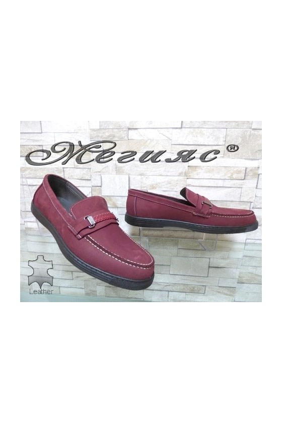 500 Men's shoes XXL wine leather