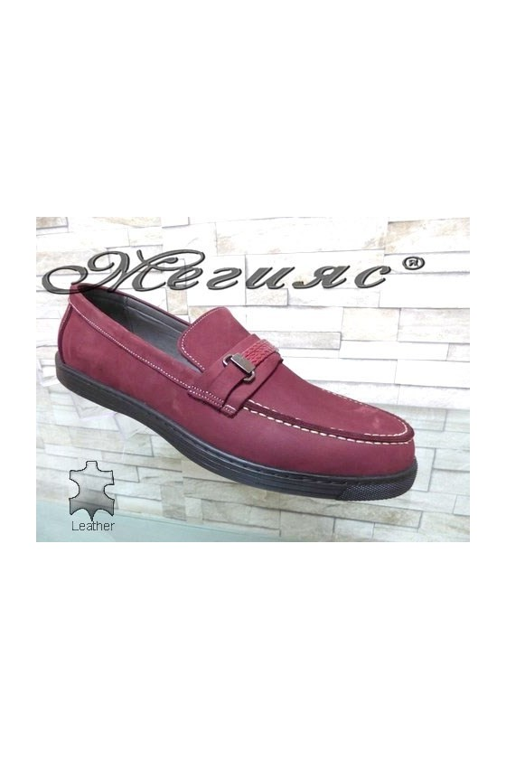 500 Men's shoes XXL wine leather