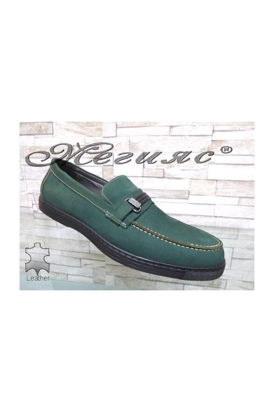500 Мъжки обувки зелени XXL гигант от естествен набук