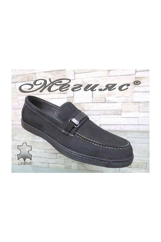 500 Men's shoes XXL black suede