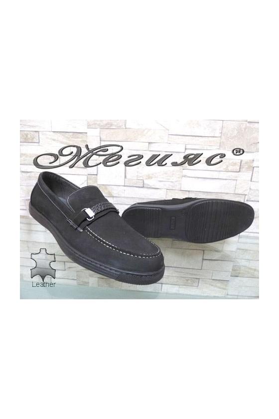 500 Мъжки обувки черни XXL гигант от естествен набук