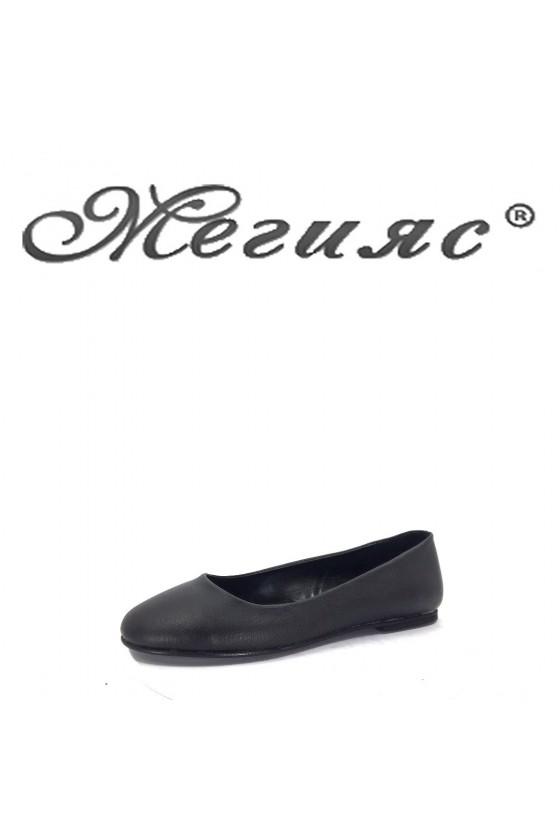 101 Дамски обувки черенa еко кожа равни