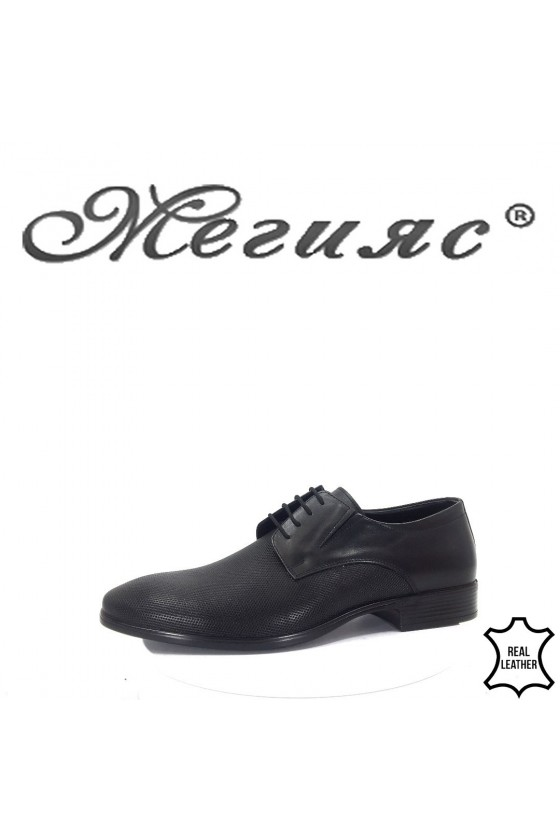 1100 Мъжки обувки Фантазия черни от естествена кожа елегантни