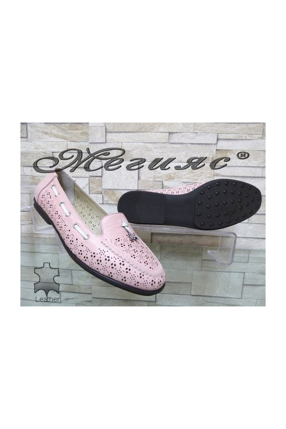 702-113 Women shoes nude leather