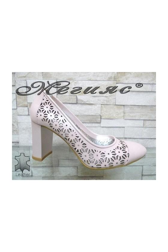 2011-143 Lady elegant shoes nude leather