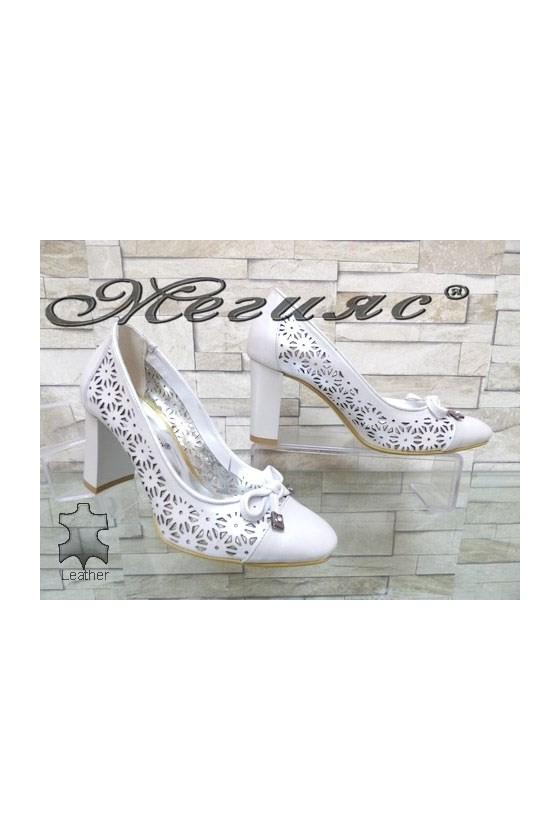 2013 Дамски елегантни обувки от естествена кожа на широк ток