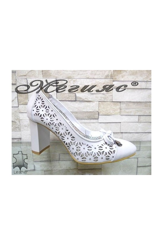2013-140 Lady elegant shoes silver leather