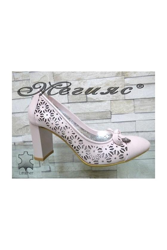 2013-143 Lady elegant shoes nude leather
