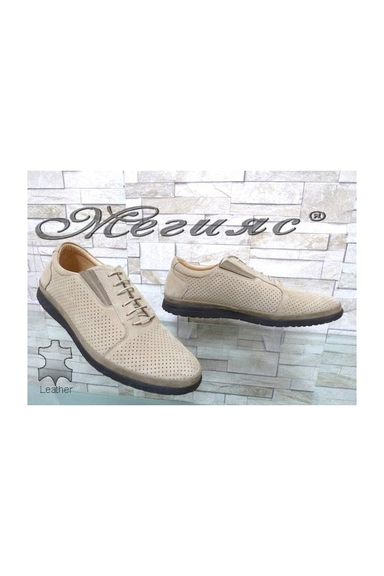 848 XXL Men's shoes beige suede