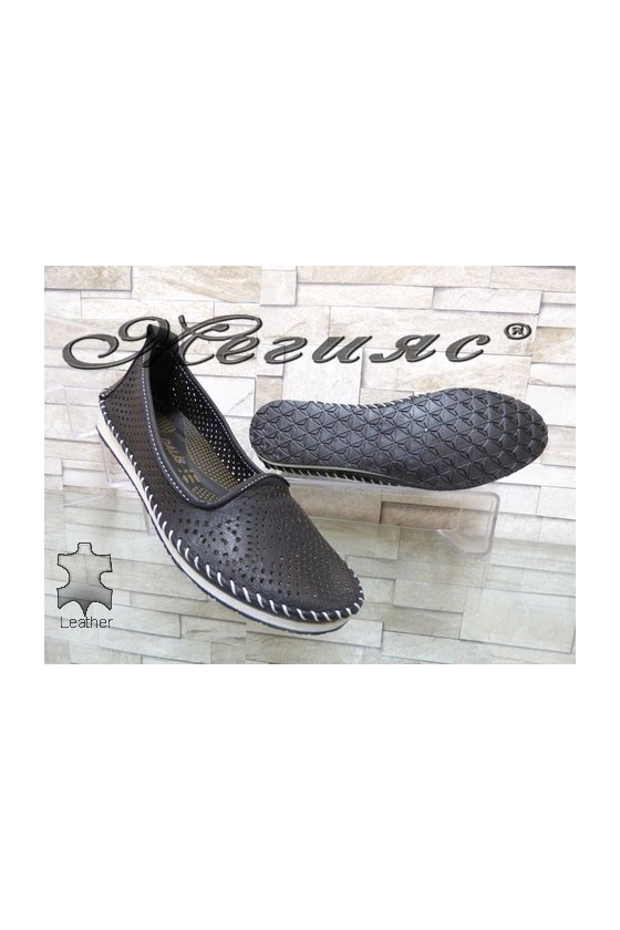 808 Lady shoes black leather
