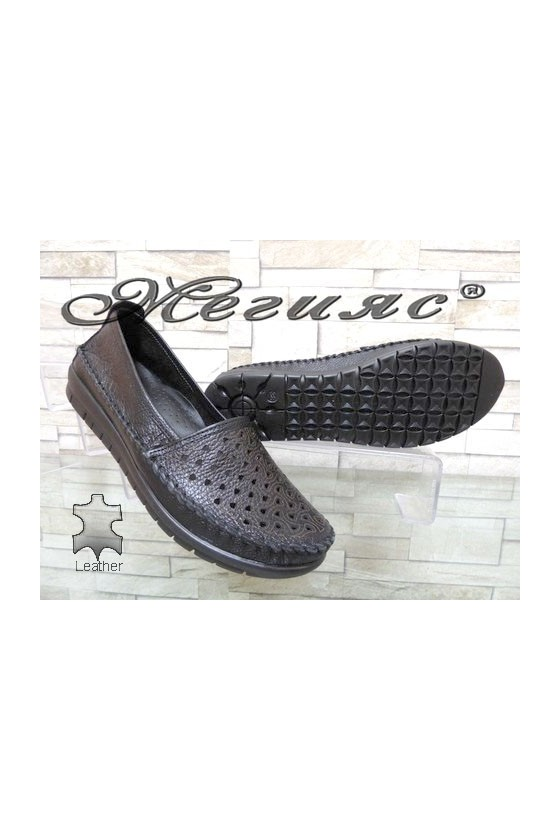 904 Lady shoes black leather