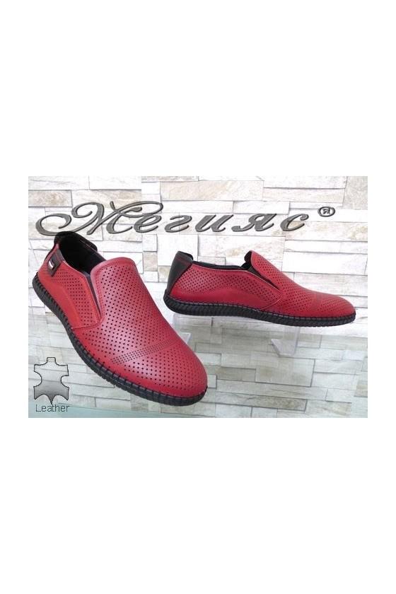 291-80 Мъжки обувки Фантазия черни с перфорация от естествена кожа
