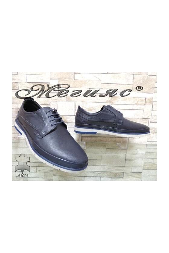 278-011 Men's shoes blue leather