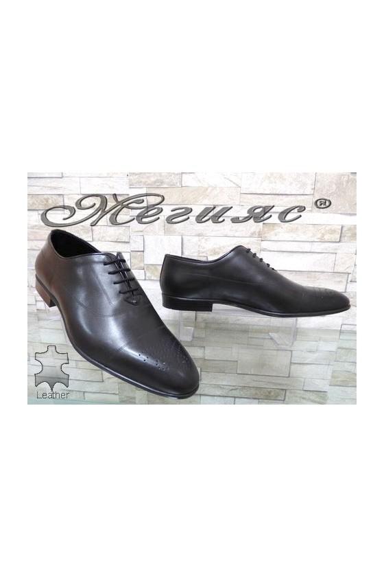 Мъжки обувки черни от естествена кожа елегантни