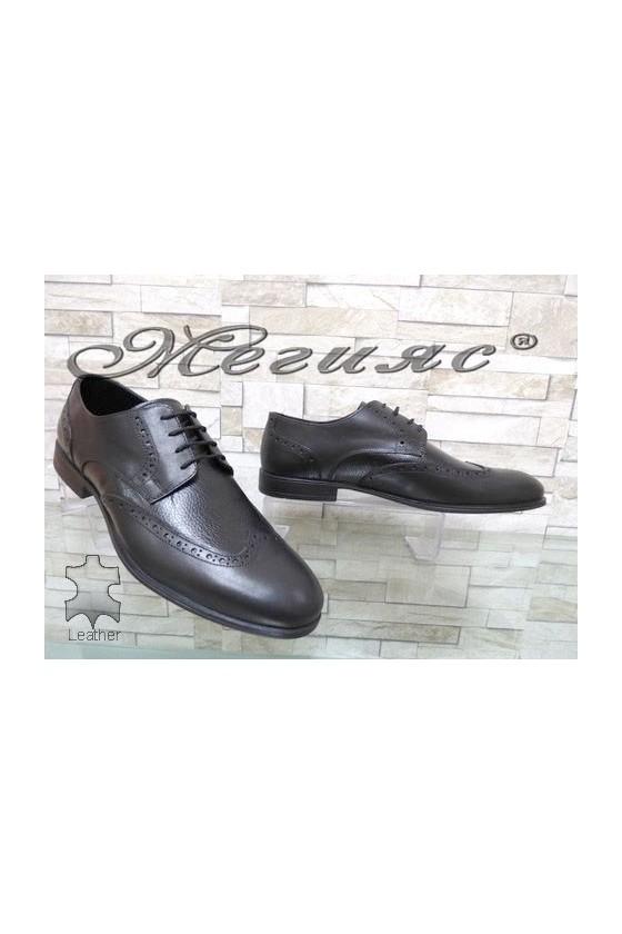 Мъжки обувки черни от естествена кожа елегантни черни Фантазия