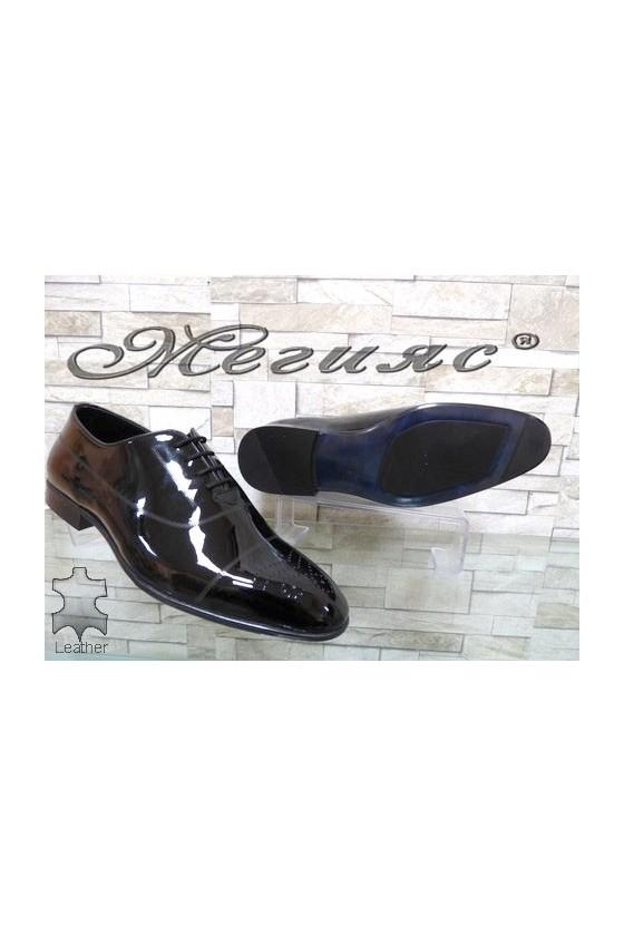 Мъжки обувки Фантазия черни от естествен лак елегантни 1007