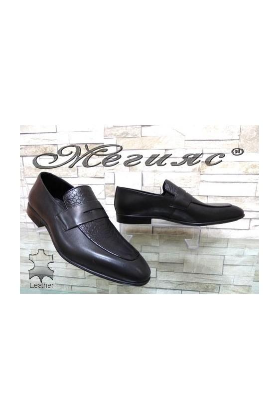 1006 Мъжки обувки Фантазия черни от естествена кожа елегантни