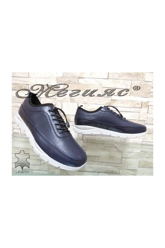 9044 Men's sport shoes blue leather