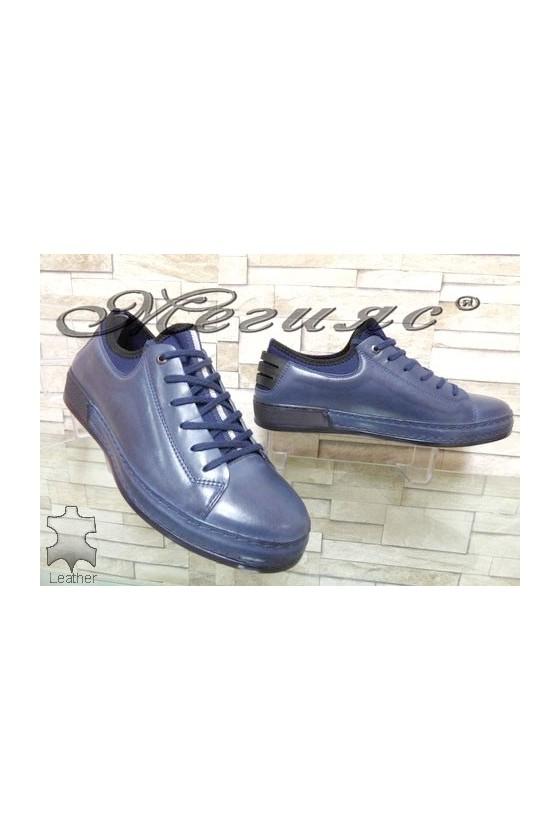1919 Men's sport shoes blue leather