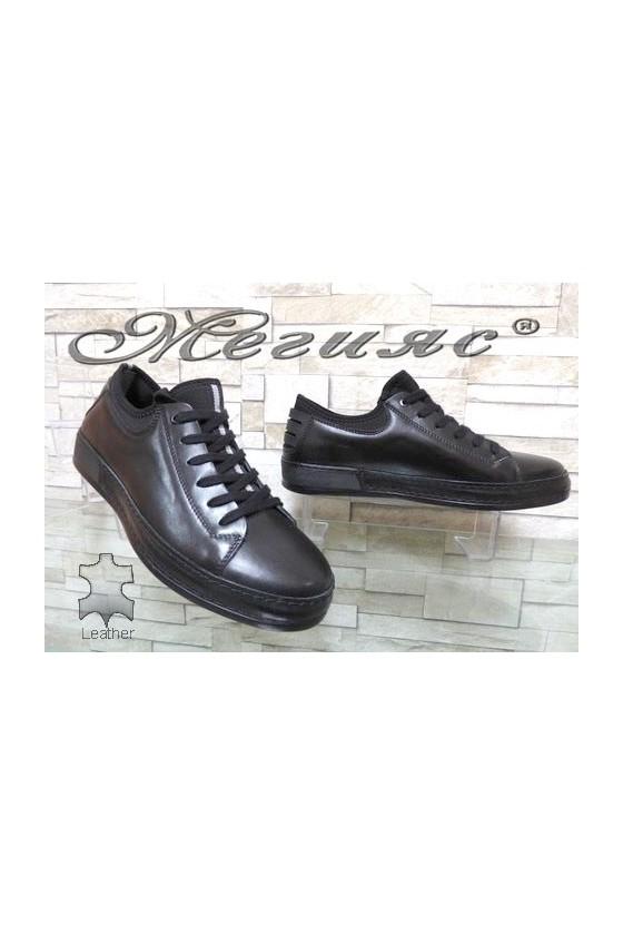 1919 Men's sport shoes black leather