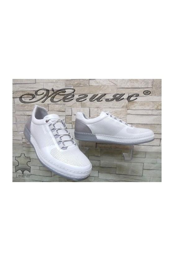 1920 Мъжки спортни обувки бели от естествена кожа