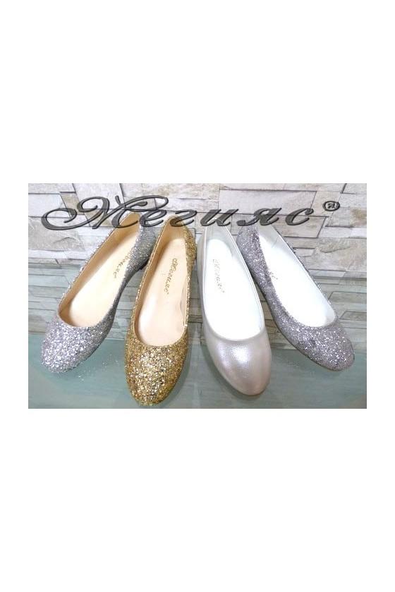101 XXL Дамски ежедневни обувки с брокат от еко кожа