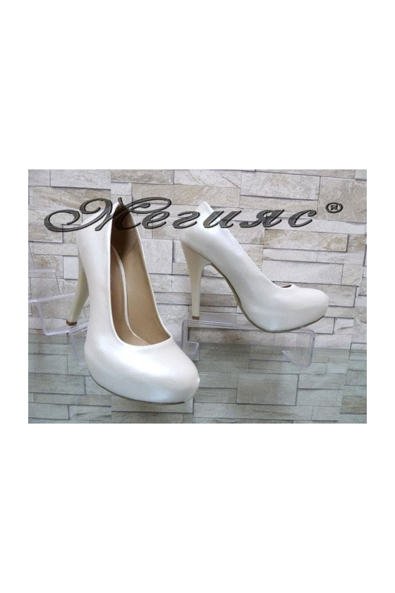 500 Lady elegant shoes white pu