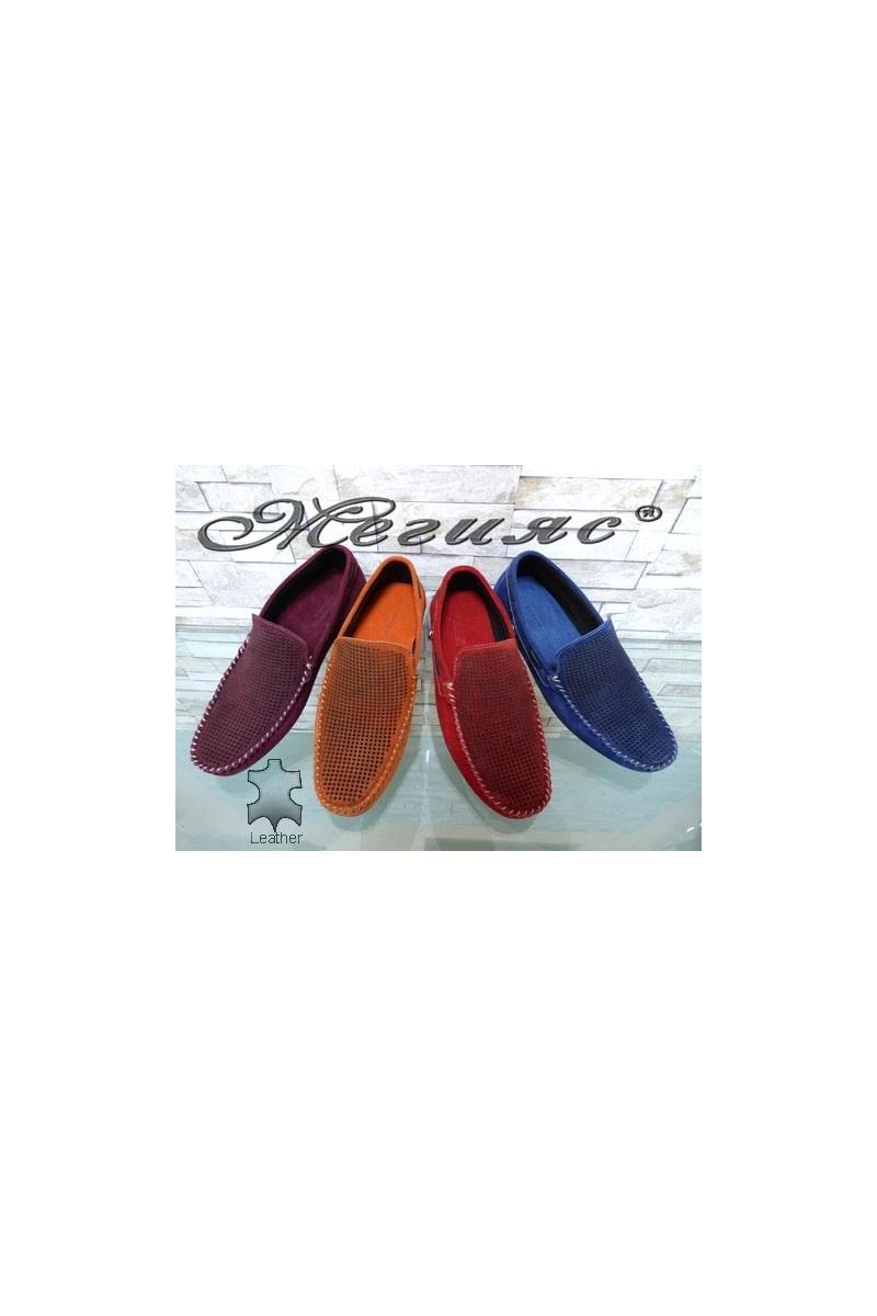 507 Мъжки обувки тип мокасини от естествен велур