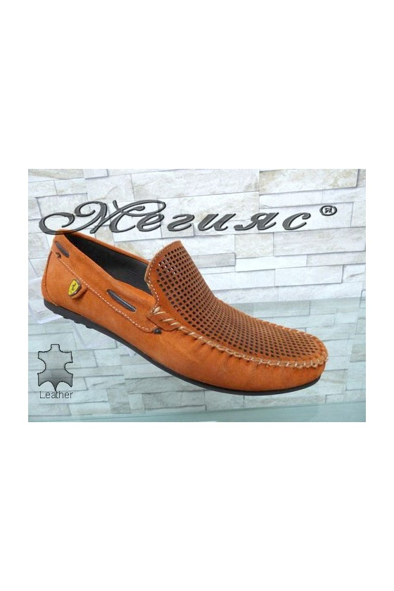 507 Men's shoes orange/red/blue suede